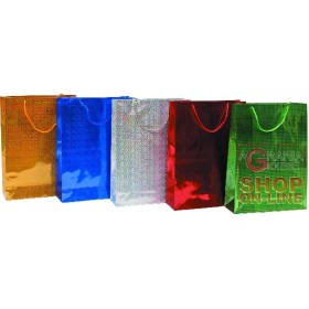GIFT BAGS CHRISTMAS LASER ASSORTED CM.30X40