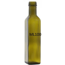 BOTTIGLIA PER OLIO MOD. MARASCA LT. 0,100 IMBOCCATURA MM. 31,5