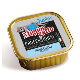 MIGLIORGATTO PROFESSIONAL JUNIOR CON VITELLO E FEGATO GR. 100