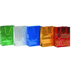GIFT BAGS CHRISTMAS LASER ASSORTED CM.25X20