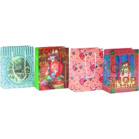 GIFT BAGS CHRISTMAS DECORATIONS ASSORTED CM.18X15