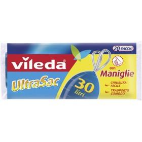 Vileda UltraSac Sacchi Universale Immondizia cm. 50x60 lt. 30 con maniglia