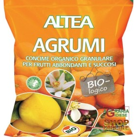 ALTEA AGRUMI CONCIME ORGANICO GRANULARE BIOLOGICO PER AGRUMI KIWI E CYCAS KG. 1,5