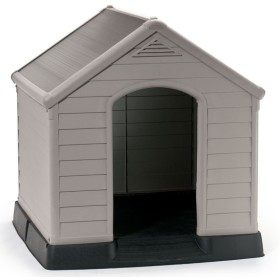 DOG KENNEL DOG HOUSE KETER ROOF TERRACOTTA COLOR CM 95x99x99h