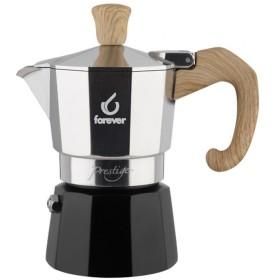FOREVER Macchina del caffè caffettiera Miss Woody effetto legno 3 tazze