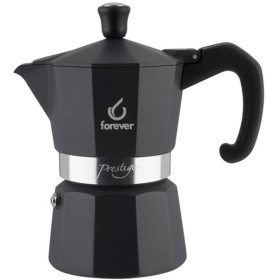 FOREVER Macchina del caffè caffettiera Prestige Noblesse Antracite 3 tazze