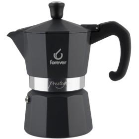FOREVER Macchina del caffè caffettiera Prestige Noblesse Antracite 6 tazze