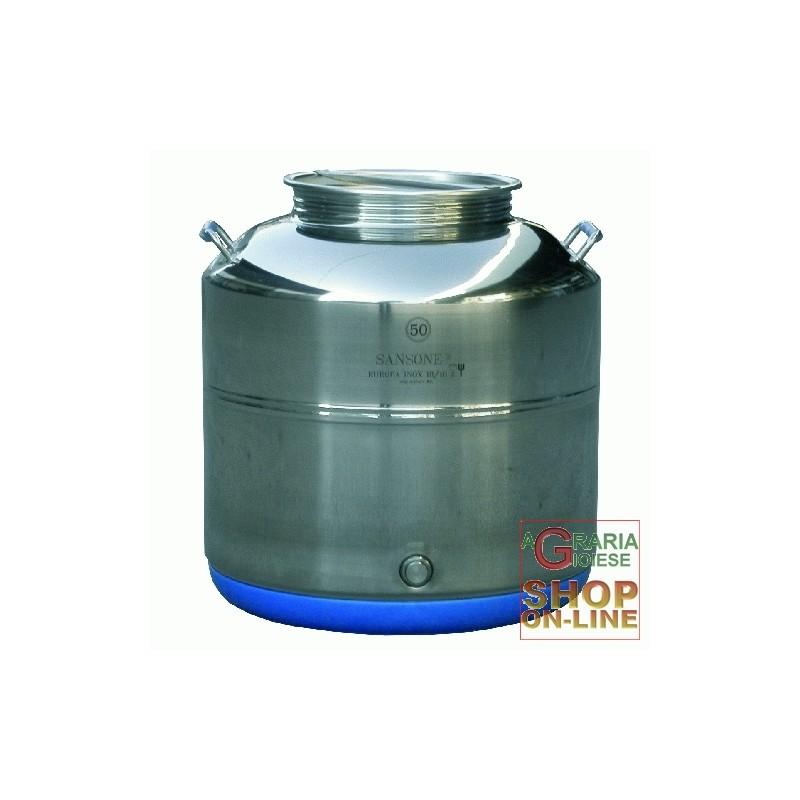SANSONE CONTENITORE INOX LT. 20 BASSO MOD. EUROPA SALDATO