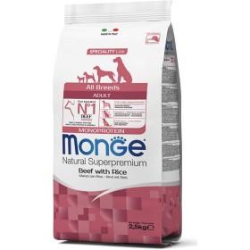 MONGE MANGIME PER CANI CROCCHETTE ALL BREEDS ADULT MONOPROTEIN CON MANZO E RISO KG. 2,5