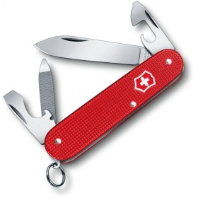 VICTORINOX MULTIUSO CADET MM. 84 GUANCE ALOX STEEL ROSSO LIMITED EDITION 2018