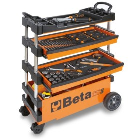 BETA ART. C27S-G CARRELLO PORTAUTENSILI RICHIUDIBILE PER INTERNI ED ESTERNI CM. 99x39x70