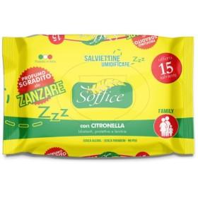 Soffice Salviettine Imbevute Antizanzare con Citronella pz. 15
