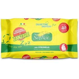 Soffice Salviettine Imbevute Antizanzare con Citronella pz. 40